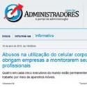 Abusos na utilização do celular corporativo obrigam empresas a monitorarem seus profissionais Portal Administradores - Sumus