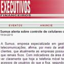 Sumus Alerta sobre controle dos celulares corporativos - Executivos Financeiros - Sumus