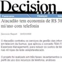 Sabesp reduz gasto com ligações Decision Report