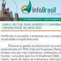Sumus recebe DUNS Number e confirma sua qualidade e credibilidade no mercado Infobrasil - Sumus