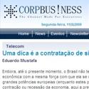 Uma dica é a contratação de sistemas CorpBusiness- Sumus
