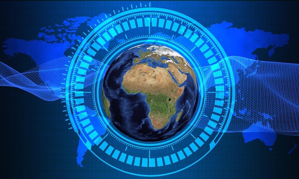 Mapa do Brasil dentro de um círculo azul